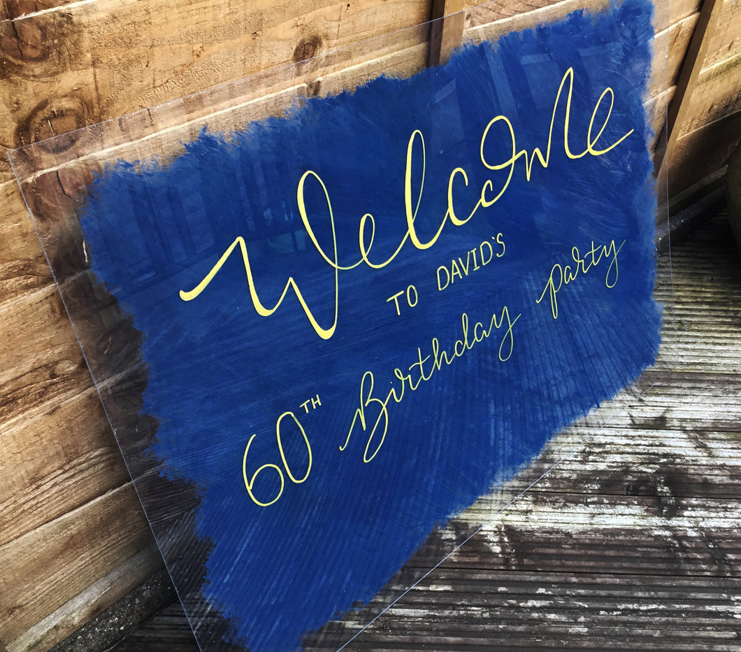 A1 Size Acrylic Welcome Sign