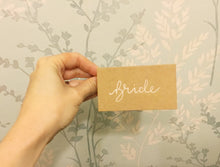 Load image into Gallery viewer, Kraft brown wedding place cards