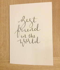 Best Friend in the World Card