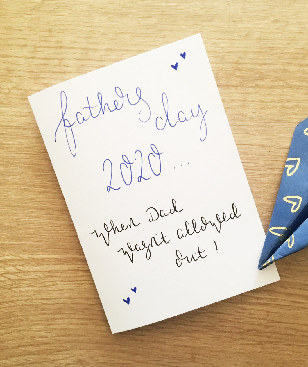 Lockdown Father's Day card