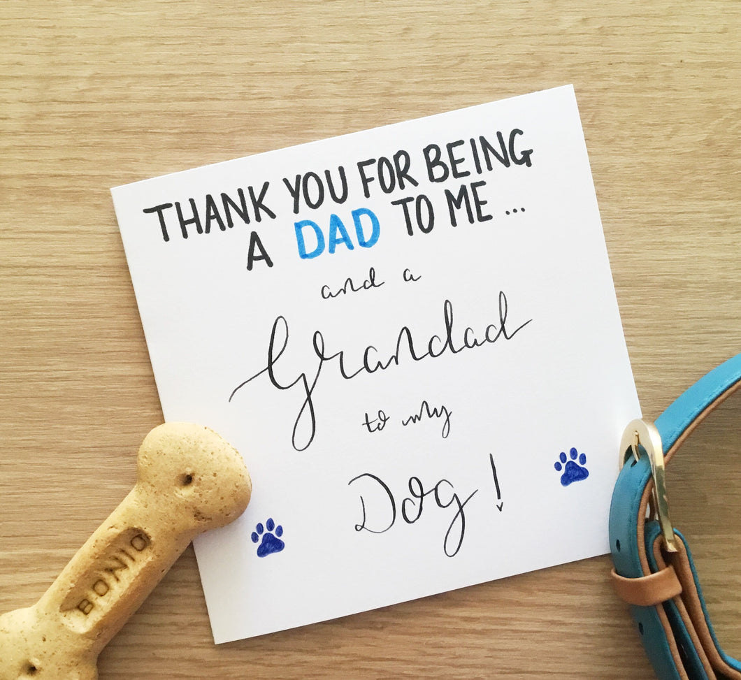 Dog Grandad card