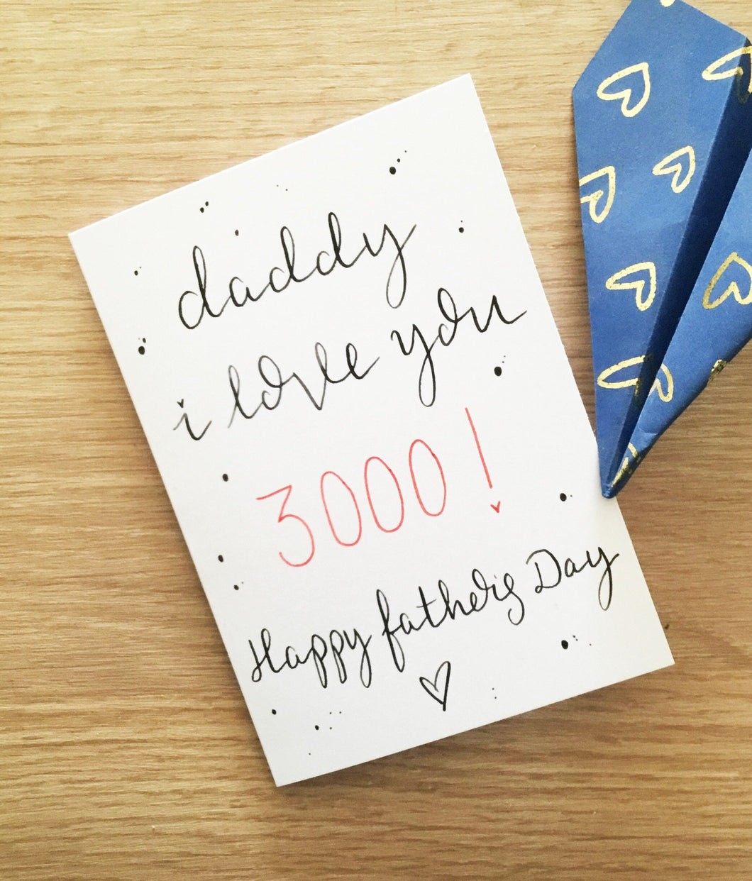 I love you 3000 Father's Day card