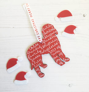 Labradoodle | Sheepadoodle | Goldendoodle Christmas Decoration
