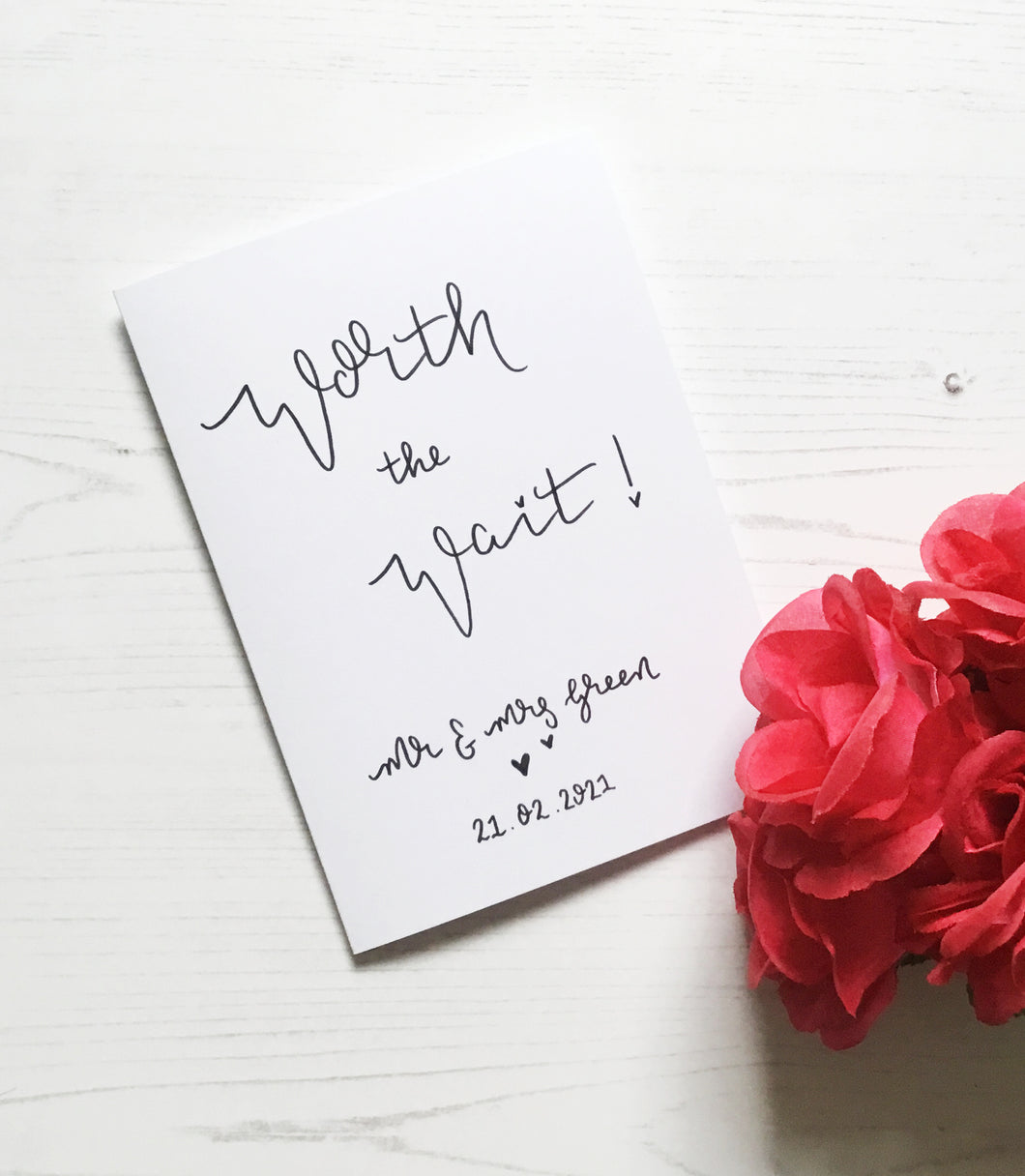 Worth the Wait Wedding Card