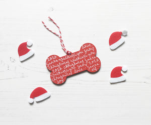 Dog Bone Christmas Decoration