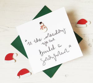 Pack of 4 Square Christmas Cards