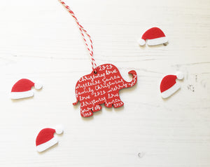 Elephant Christmas Decoration