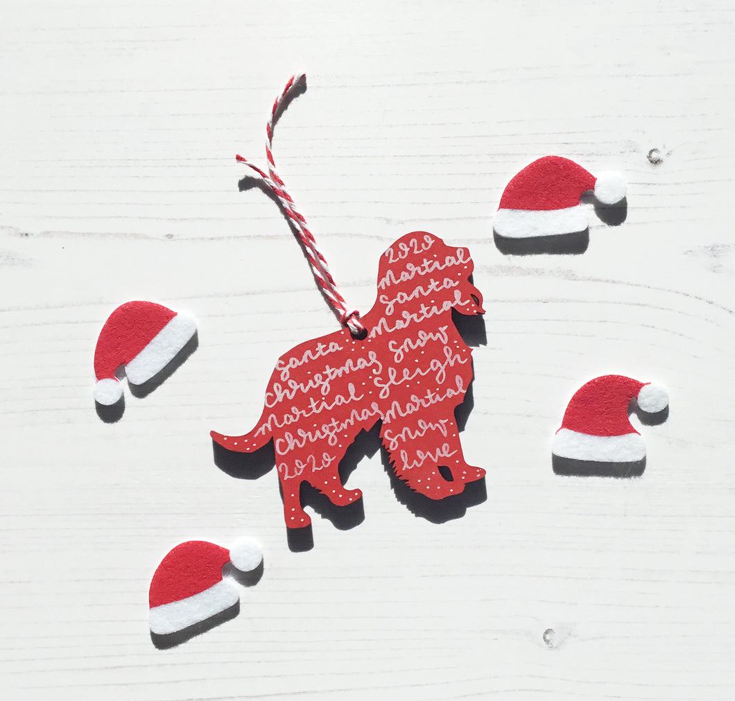 Springer Spaniel Christmas Decoration