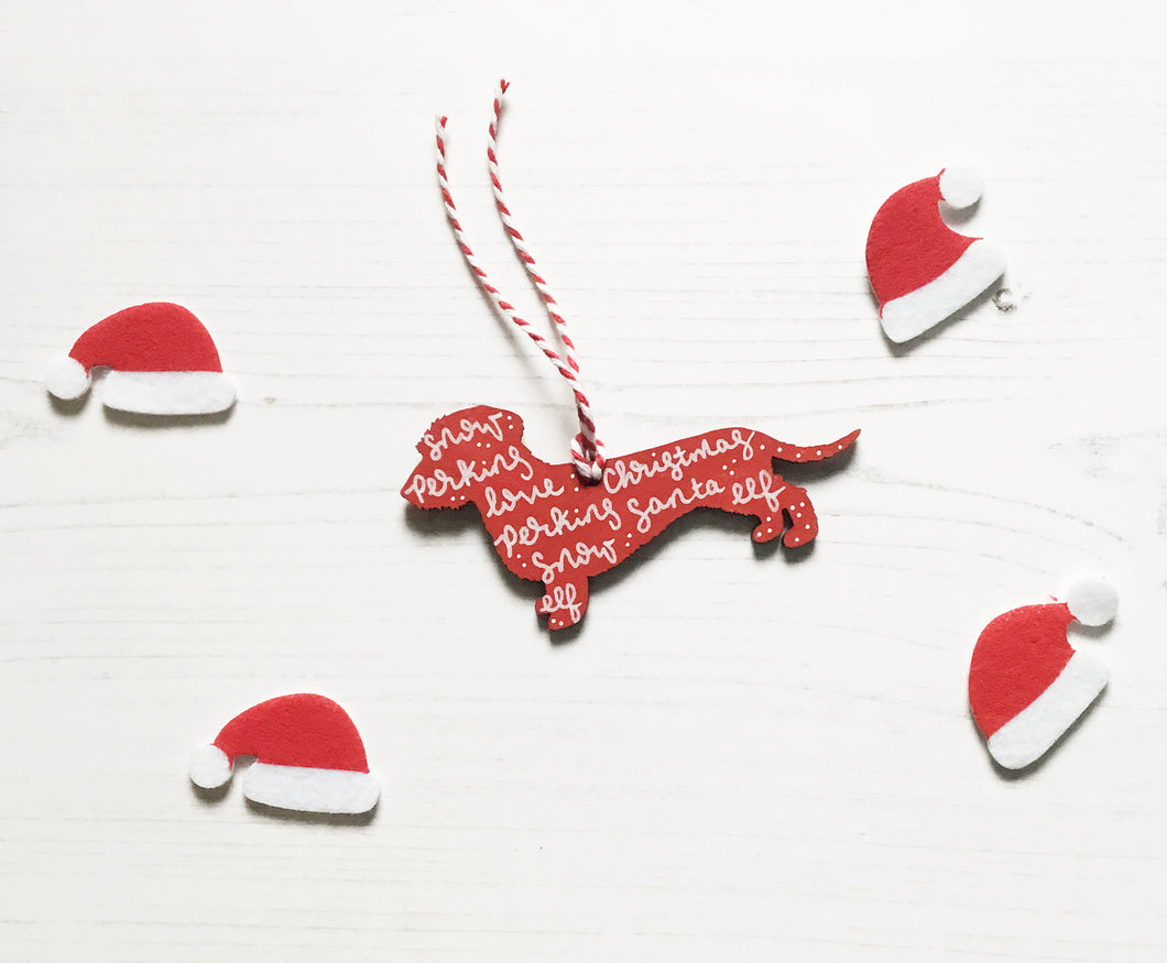 Wire Haired Dachshund Christmas Decoration