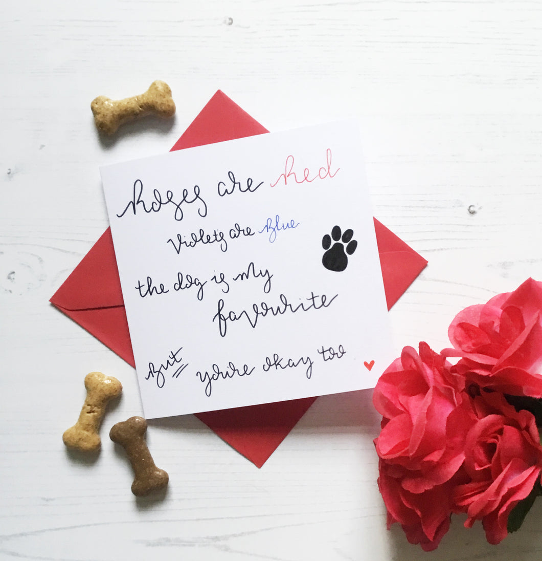 Funny Valentine's Day Card For Dog Owner