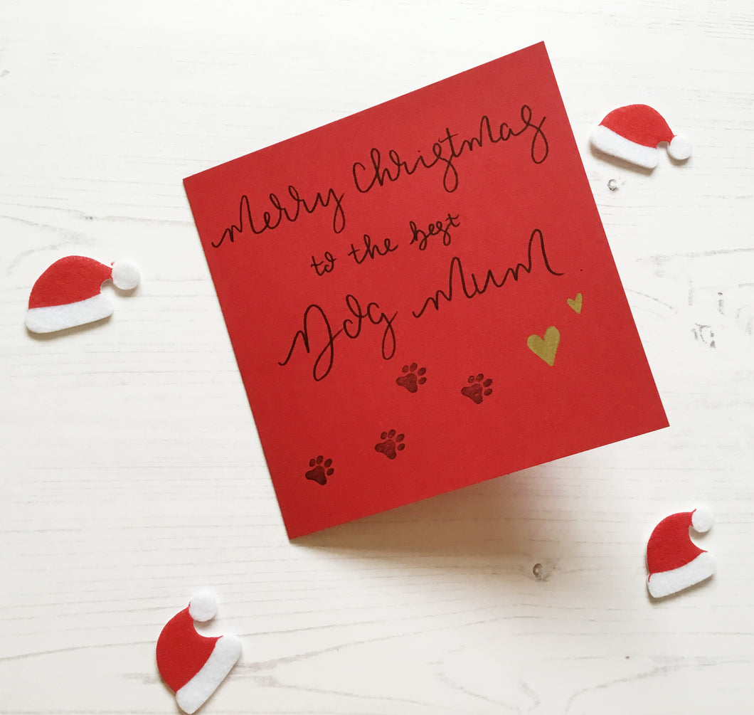 Dog Mum Christmas Card