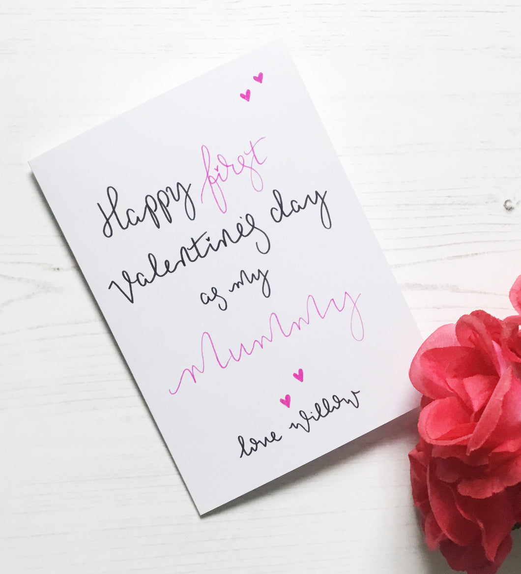 First Valentine's Day as my Mummy Card