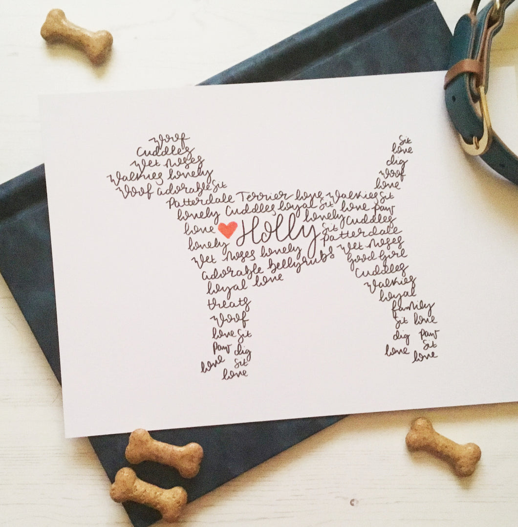 Patterdale Terrier Personalised Wall Art
