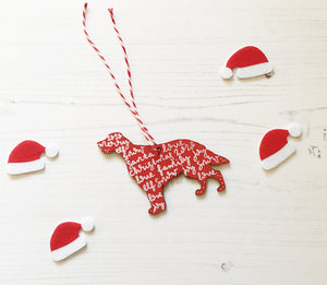 Irish Setter Christmas Decoration
