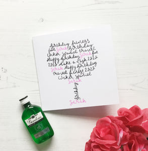 Gin Glass birthday card