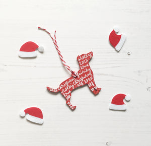 Jack Russell Christmas Decoration