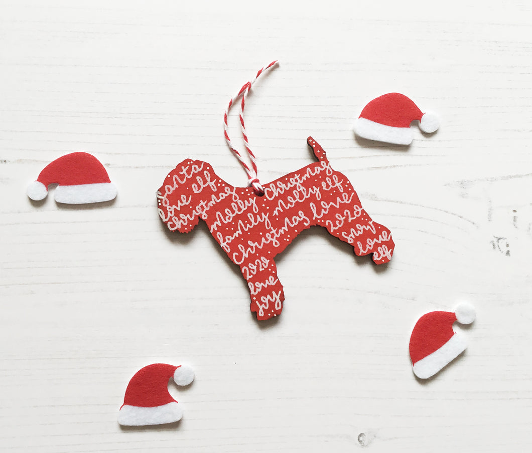 Soft Coated Wheaten Terrier Christmas Decoration