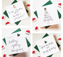 Load image into Gallery viewer, Pack of 4 Square Christmas Cards