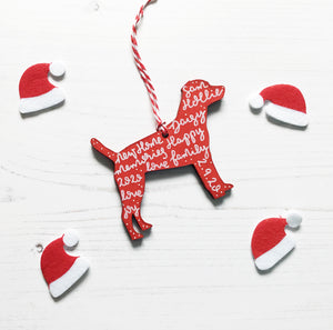 Patterdale Terrier Christmas Decoration