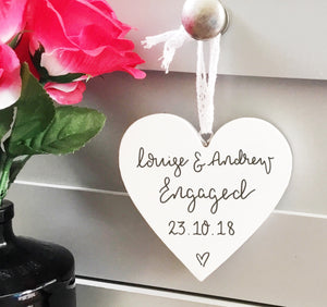 Engagement Hanging Heart Gift