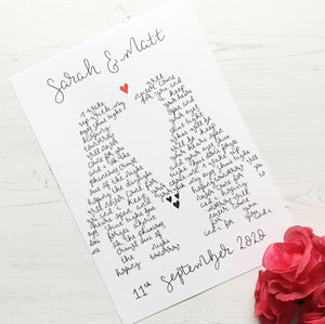 Penguin Song Lyrics Personalised Wall Art