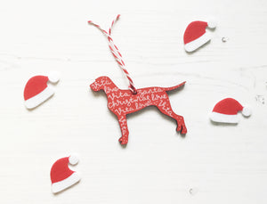 Wire Haired Vizsla Christmas Decoration