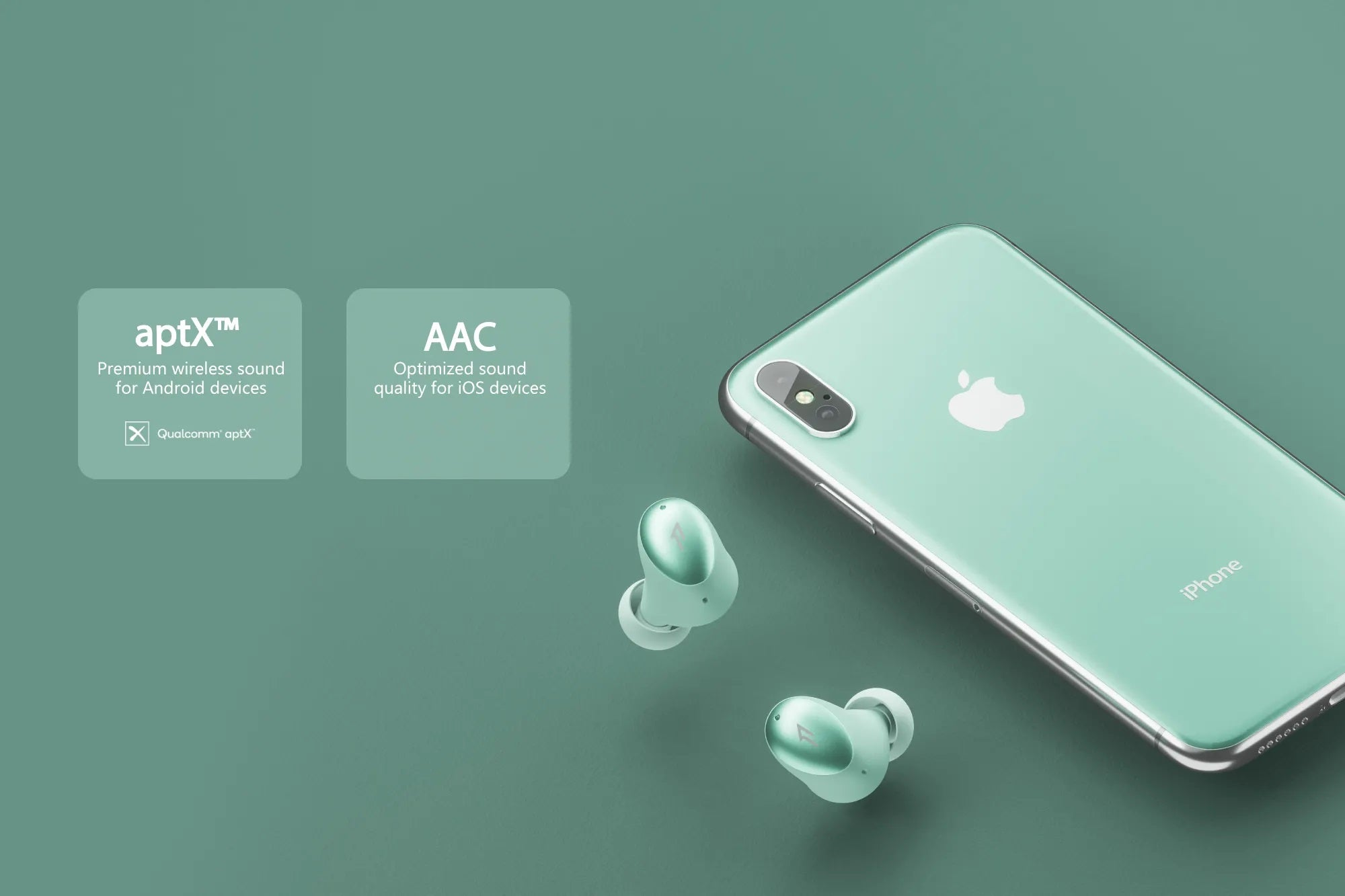 ANDROID & iOS COMPATIBLE - Enjoy superior sounding audio with aptX™ and AAC codecs to ensure you are getting the best possible sound on virtually any device.