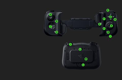 Razer Kishi Universal Mobild Gaming Controller Buttons and Features
