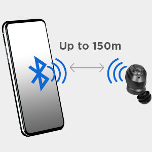 Bluetooth range up to 150m