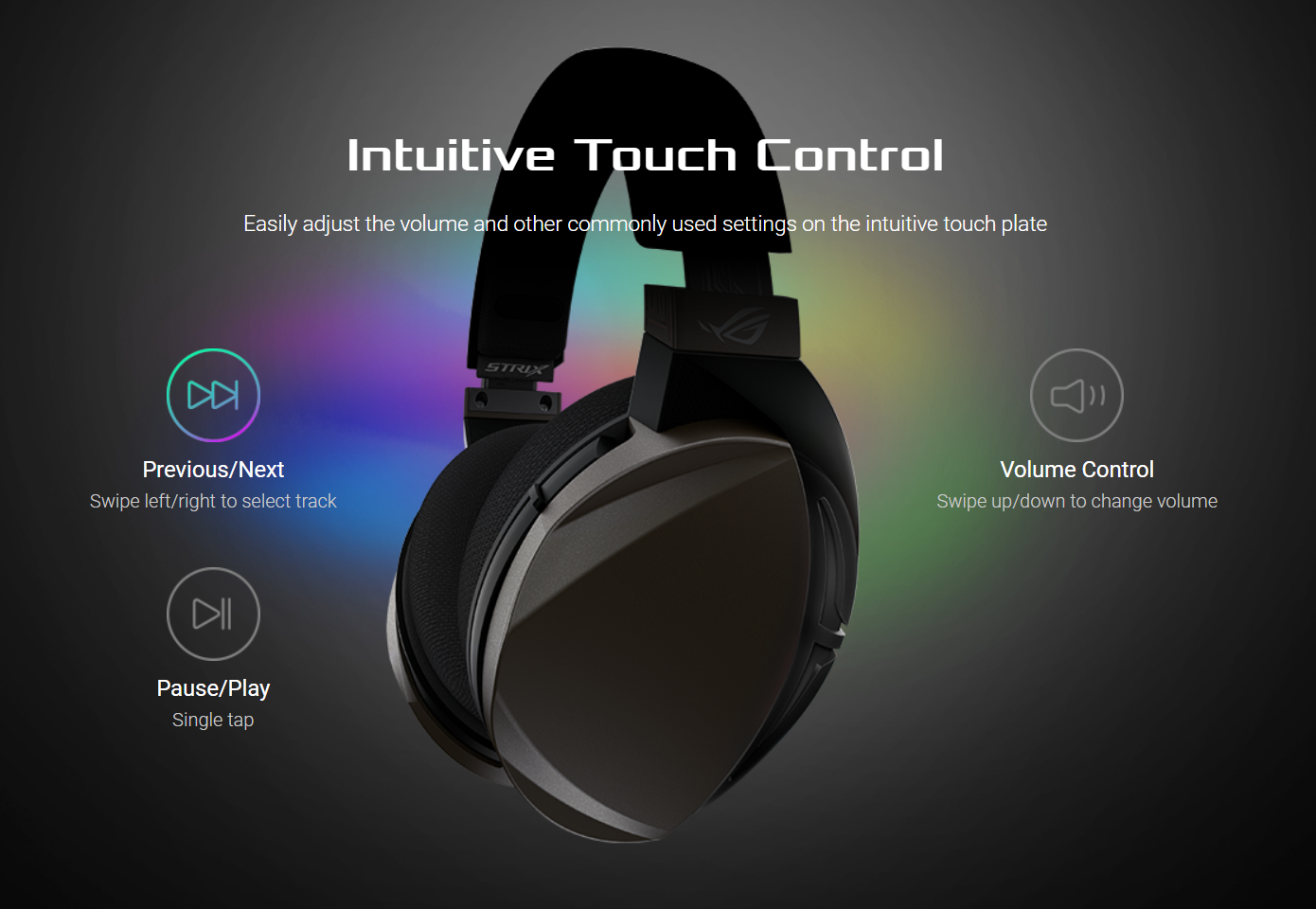 Intuitive Touch Control - Easily adjust the volume and other commonly used settings on the intuitive touch plate