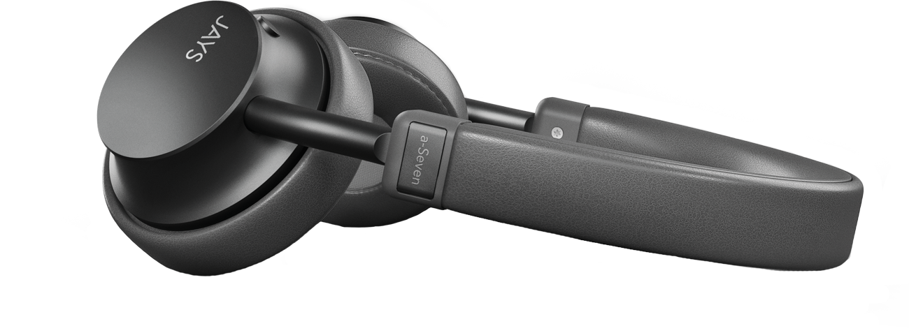 JAYS a-Seven Wireless Headphones tilted view