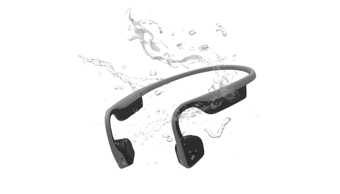 AFterShokz Trekz Titanium Built to work as hard as you do. A durable design repels sweat, dust, and moisture through any challenge.