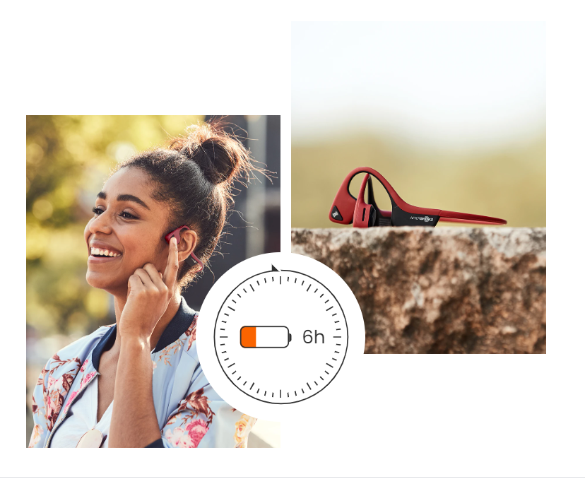 MUSIC + CALLS - 6-Hour battery life and dual noise-canceling mics make taking calls or listening to music effortless.