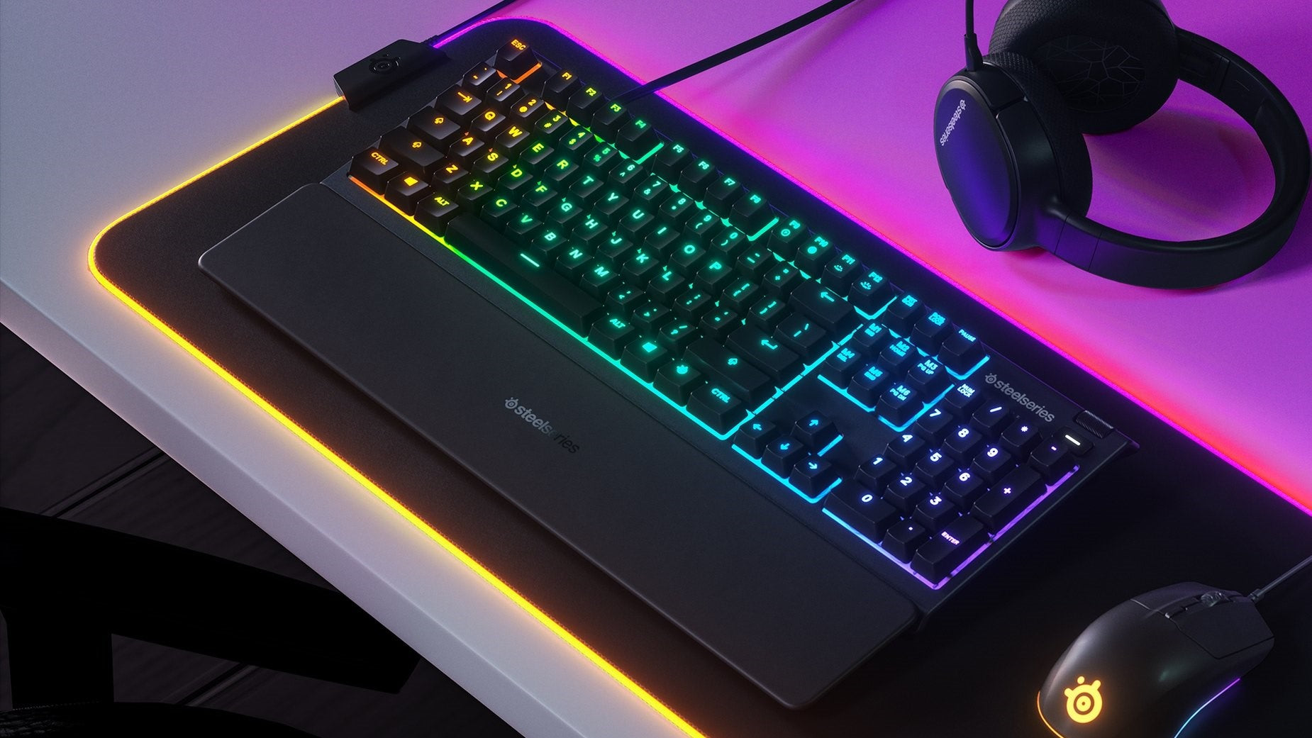 10-Zone RGB Illumination - Choose from brilliant rainbow RGB effects, your favorite color schemes, or even to react when you're under attack. Personalize the illumination to match any style.
