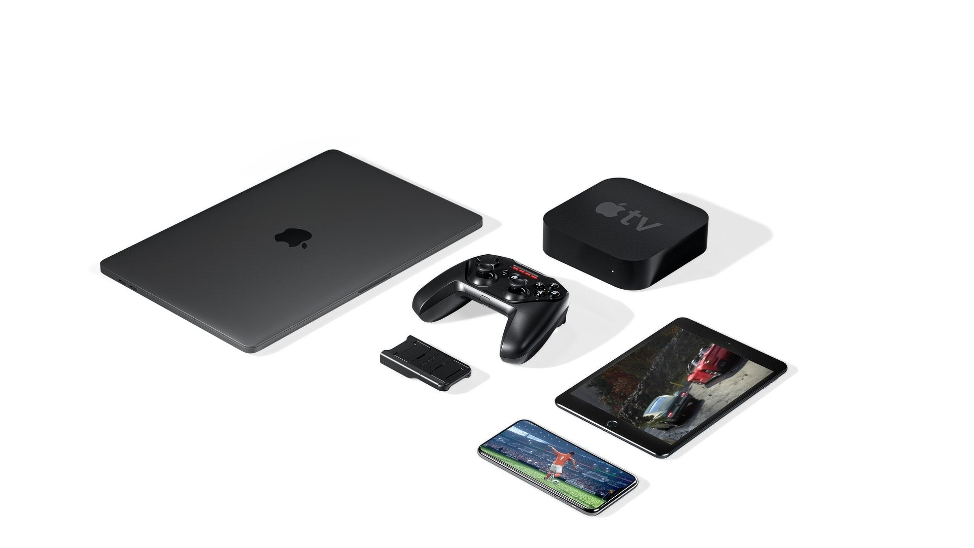 Official Apple-licensed Wireless Connectivity Works flawlessly with any Apple products, including iPhone, iPad, iPod and Apple TV.
