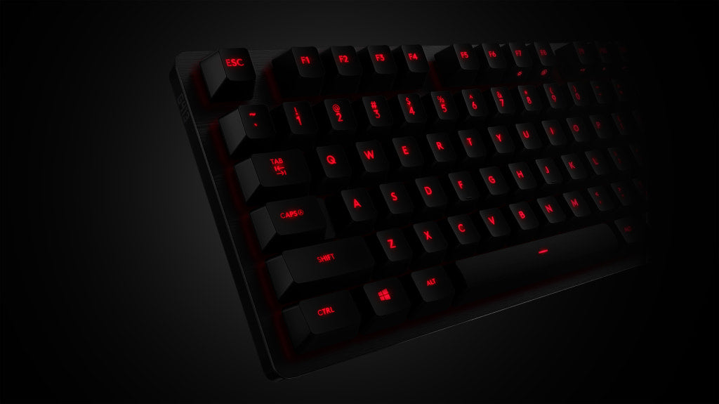 PRECISION KEY LIGHTING - Romer-G is also purpose-designed for precise and clean lighting through the keycap. So, keys are always visible and never distracting, especially during late night gaming sessions (the best kind). That's how G413 Carbon in elemental red backlighting and G413 Silver in iconic white achieve their premium, focused look.