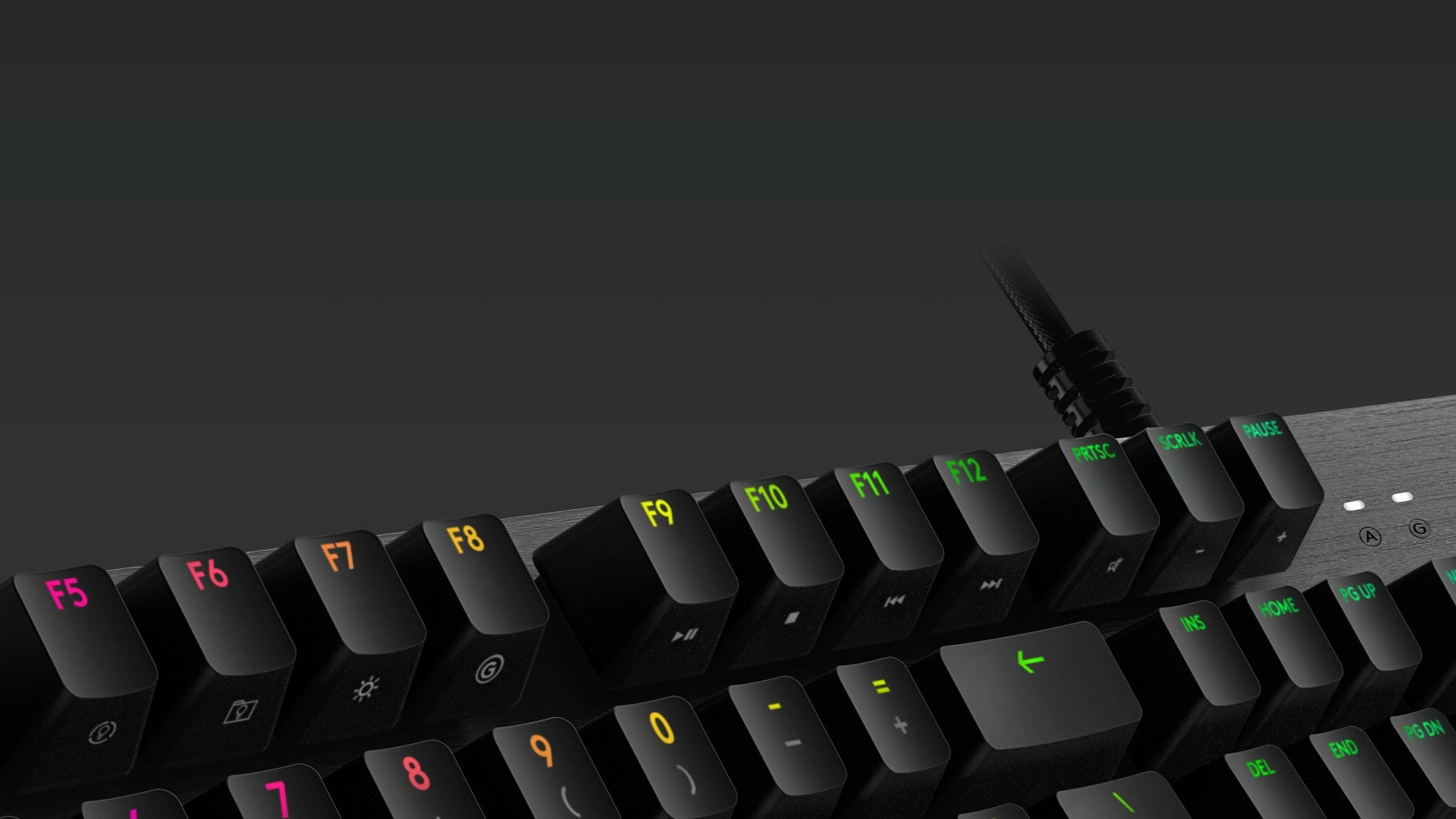 FULL FUNCTION KEYS - Media and lighting controls are right at your fingertips. Use the FN key to control volume, play and pause, mute, toggle game mode, change lighting effects, etc. Use the FN toggle feature in Logitech G HUB and configure your function keys to perform these alt commands by default.