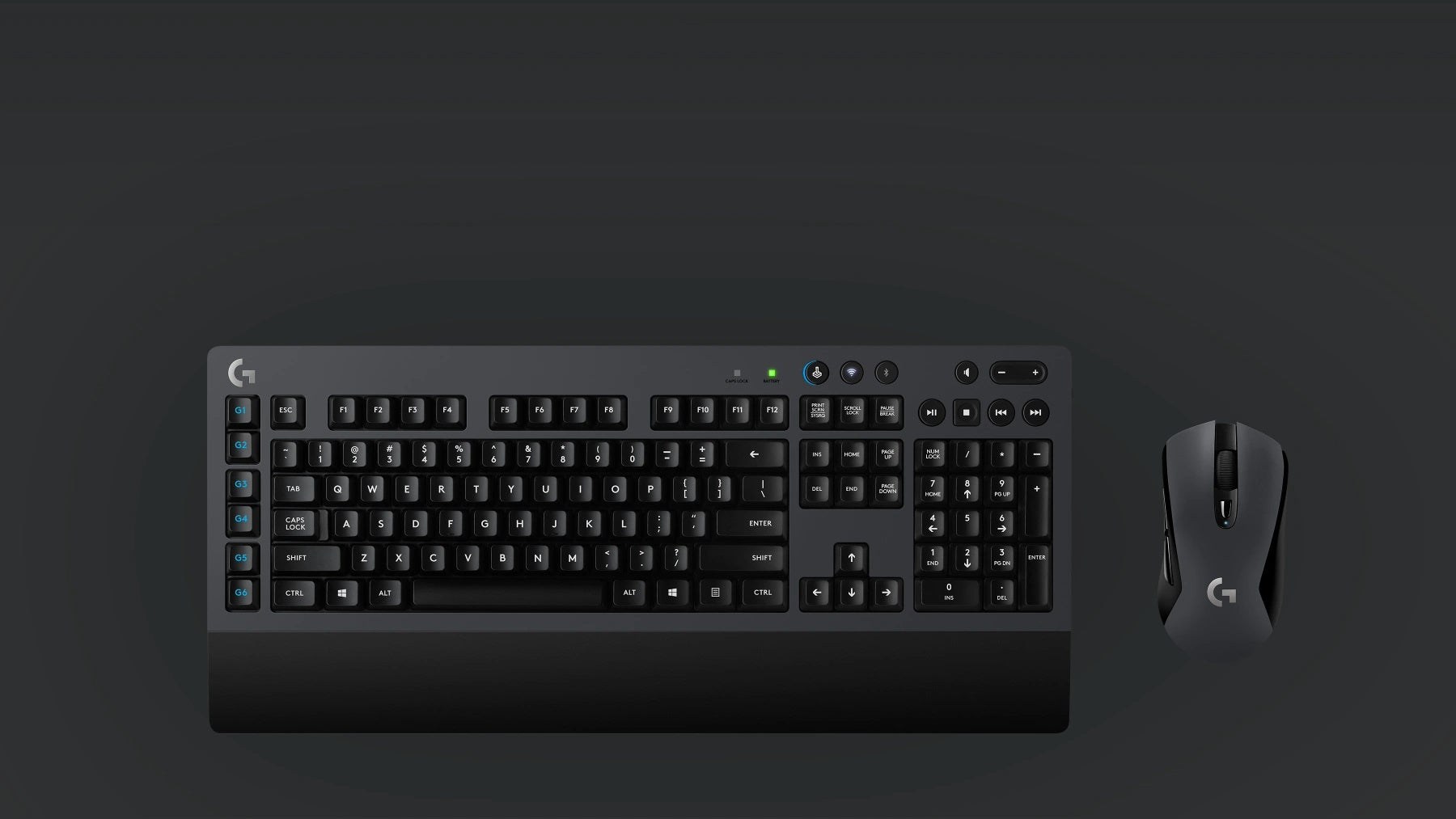 WIRELESS GAMING DESKTOP - Pair the G603 gaming mouse with the G613 wireless mechanical keyboard to acquire the complete wireless gaming desktop solution. G613 features advanced LIGHTSPEED wireless, Romer-G mechanical key switches, programmable G-keys, and more gaming features.