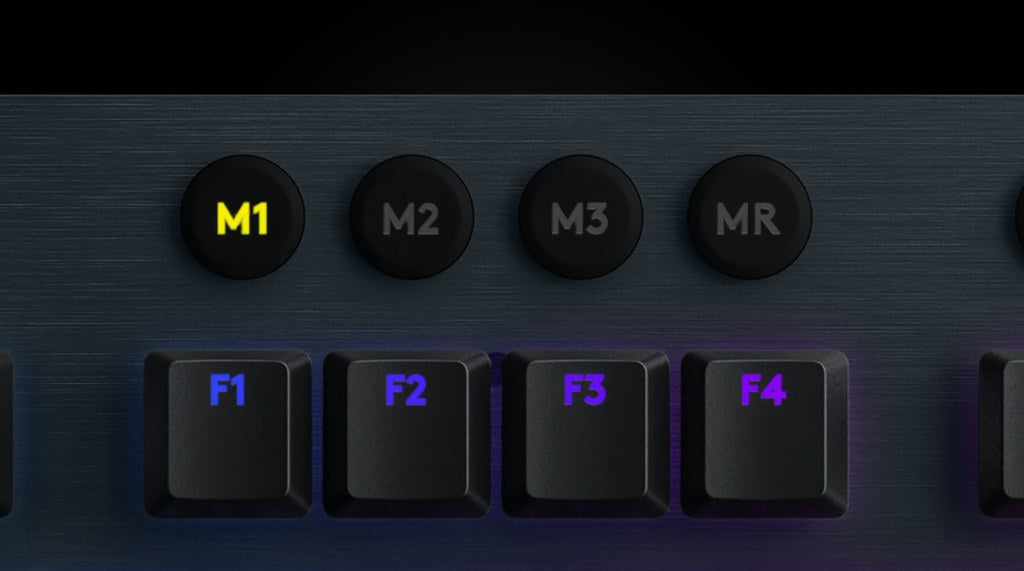 3 ONBOARD PROFILES - Save up to three different profiles to the keyboard's onboard memory for a total of 15 G-key controls at the ready. Easily switch between stored modes using the M1, M2 or M3 soft keys at the top of the keyboard.