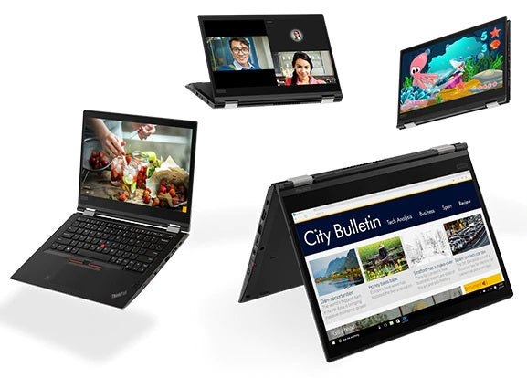 Lenovo ThinkPad X380 Yoga in Tablet, Laptop and Tent Mode
