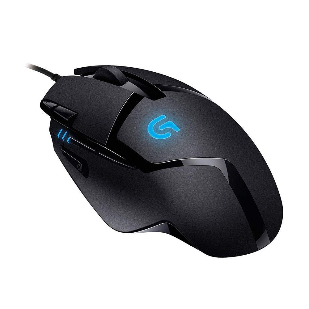 Logitech G402 Hyperion Fury FPS Gaming Mouse with 8 Programmable Buttons for greater customization.