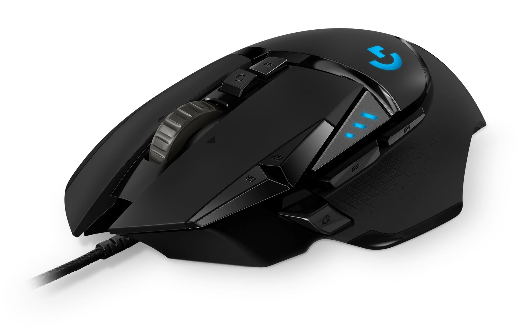 Logitech G502 Hero Gaming Mouse Side View