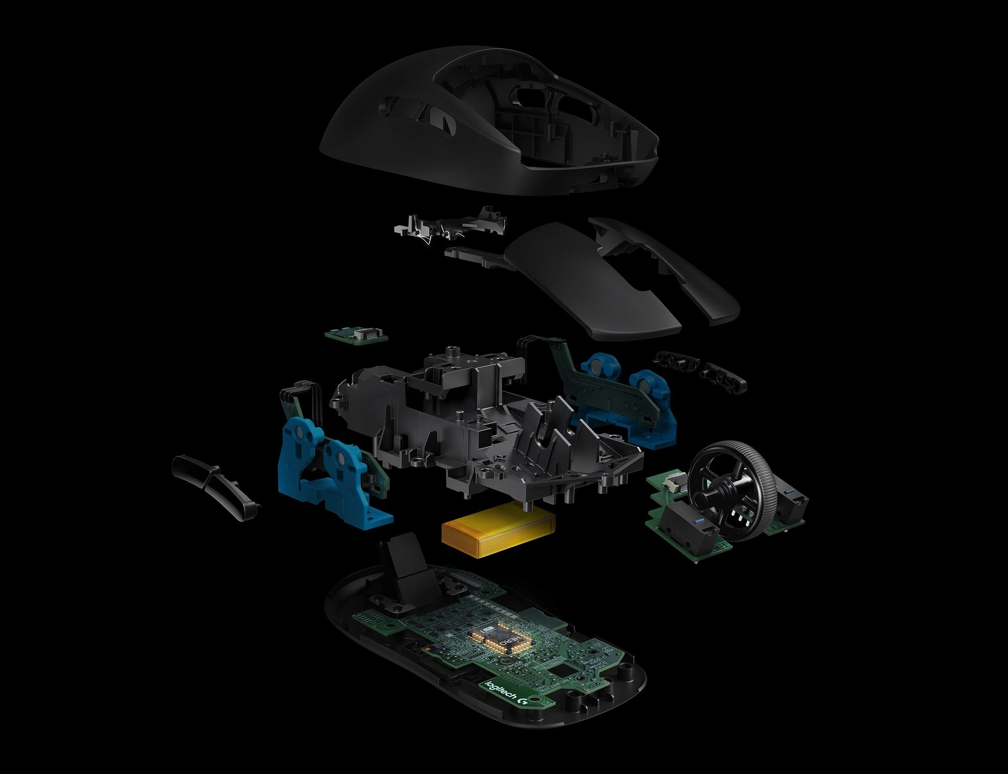 ULTRA LIGHTWEIGHT - The latest endoskeleton design from Logitech G achieves an unreal 80-gram weight. The incredibly thin outer shell, as thin as 1 mm, uses an innovative ladder-chassis design for tournament-ready strength and structural support. The advanced LiPo battery is incredibly long-lasting and lightweight for no-hassles, worry-free wireless gaming. Charge before a tournament and you can forget all about the battery while you compete.