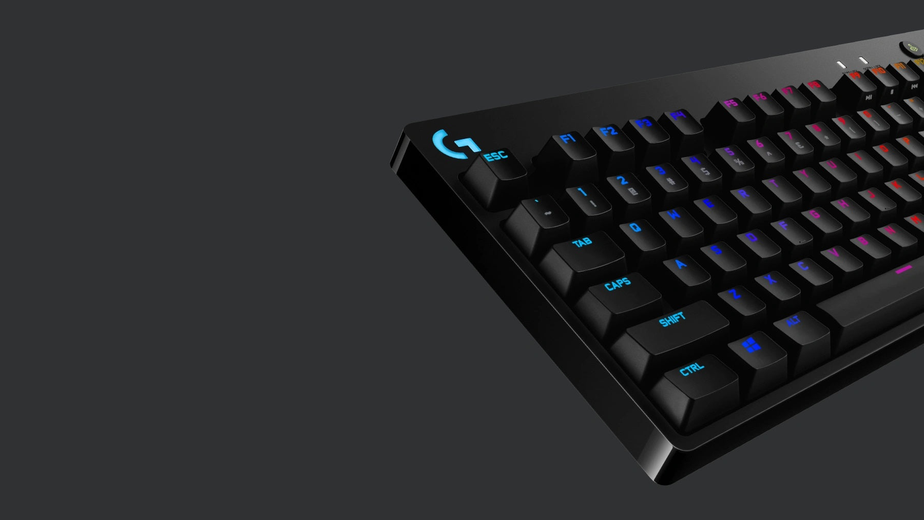 LIGHTSYNC RGB - Highlight critical keys, or just show your team solidarity. Customize lighting and animations with Logitech G HUB software. PRO X Keyboard also allows you to save a static lighting design to onboard memory for use on tournament systems.