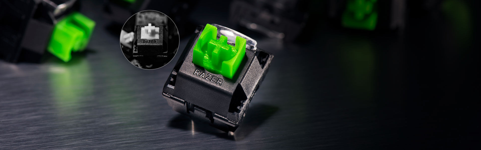 TACTILE AND CLICKY - Mechanical keyboards are popular among gamers due to their tactile and clicky feel—a signature feature of the Razer™ Green Mechanical Switch. Each switch is also equipped with side walls for greater stability and protection against dust and liquids, and is durable up to 80 million keystrokes, making the Razer BlackWidow reliable for everyday gaming.