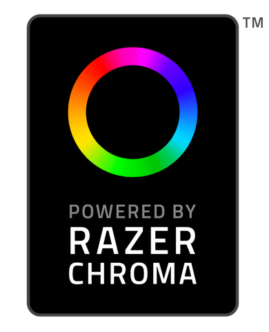 Powered by Razer Chroma Rectangular Logo