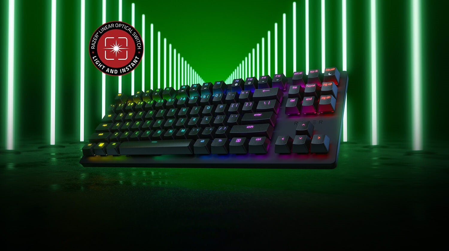 ABSOLUTE SPEED - When a split second can mean the difference between victory and defeat, the absolute speed of the Razer Huntsman Tournament Edition is what separates the champions from everyone else. Designed and tested by Team Razer athletes, this gaming keyboard is armed with the fastest Razer switches we've ever designed, to give you the edge you need to thrive where the competition is fiercest.