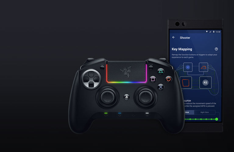 Razer Raiju Ultimate with advanced app configuration, you can remap multi-function buttons and triggers, adjust sensitivity clutch levels or fine-tune the intensity of rumble motors to complete your in-game experience—anytime, anywhere.