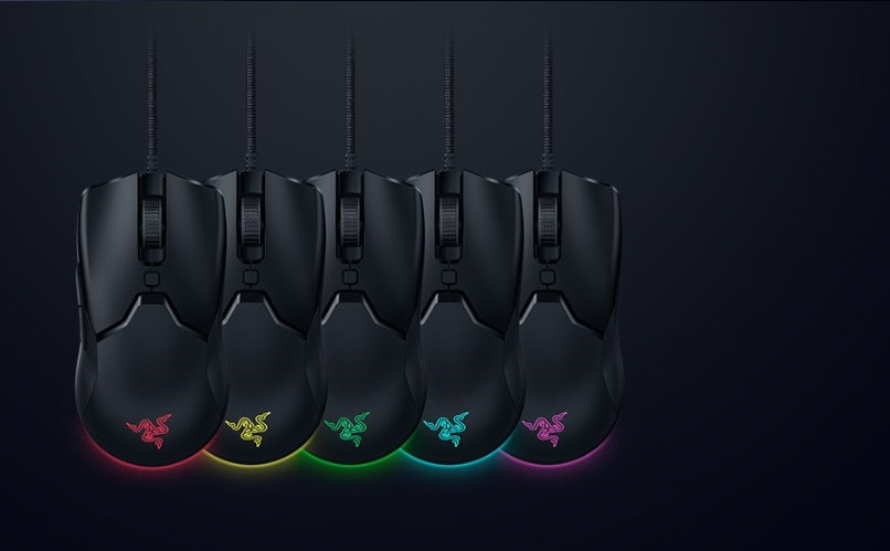 RAZER CHROMA™ RGB UNDERGLOW. With 16.8 million colors and a range of dynamic lighting effects you can program or create from the ground up via Razer Synapse 3, the Razer Viper Mini displays no shortage of character and personality as part of your battle station.