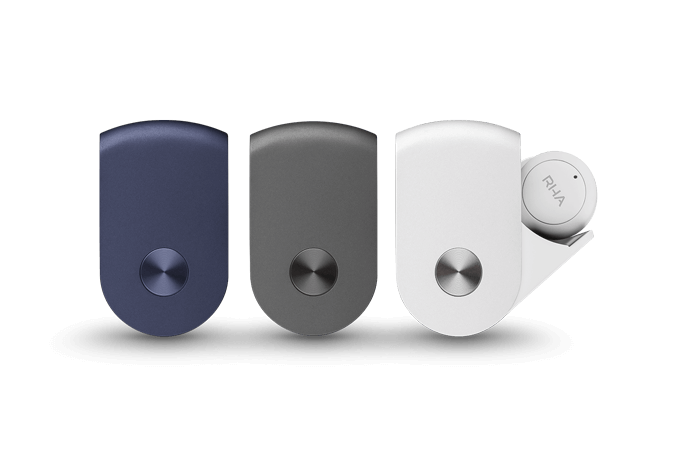 Choose your RHA TrueConnect True Wireless Earbuds from Carbon Black, Navy Blue or Cloud White.